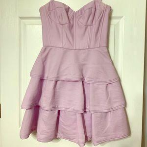 BCBG strapless corset mini